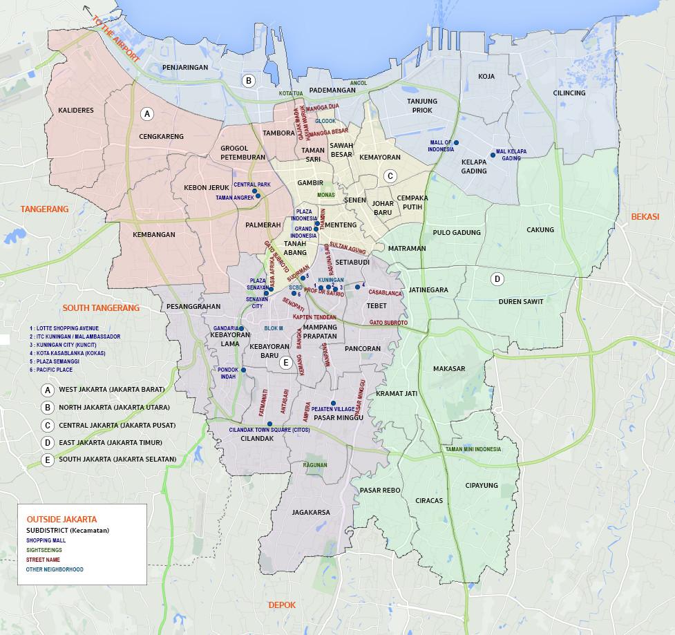 Jakarta Newcomer map