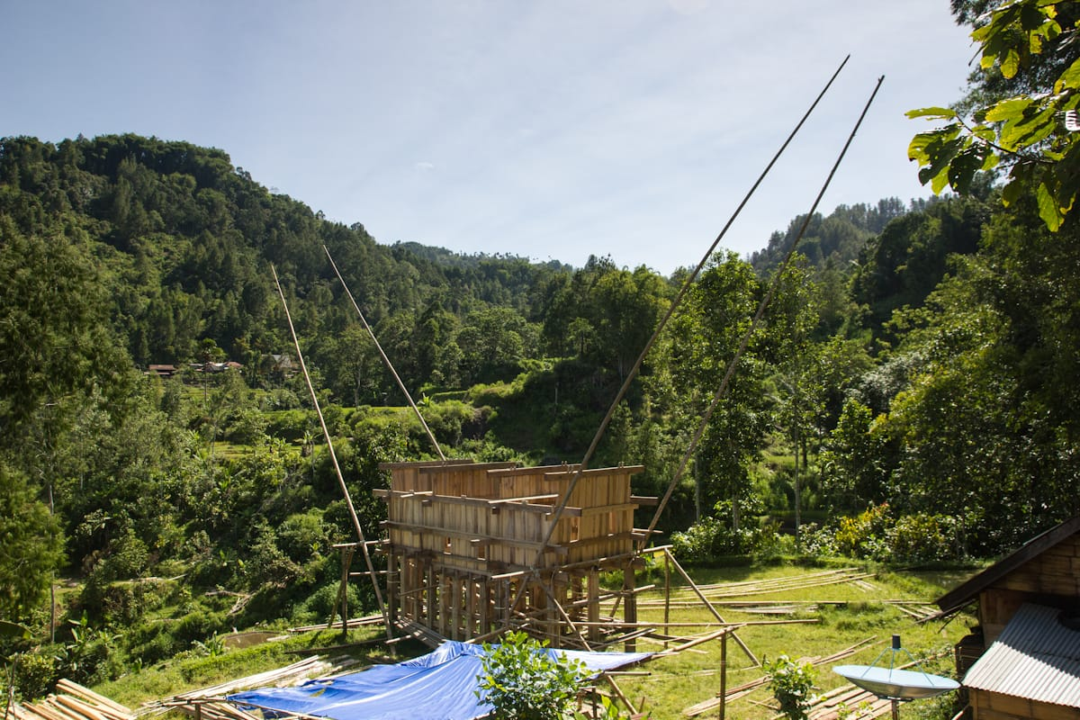 Toraja house construction