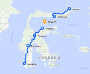 How to get to Togean