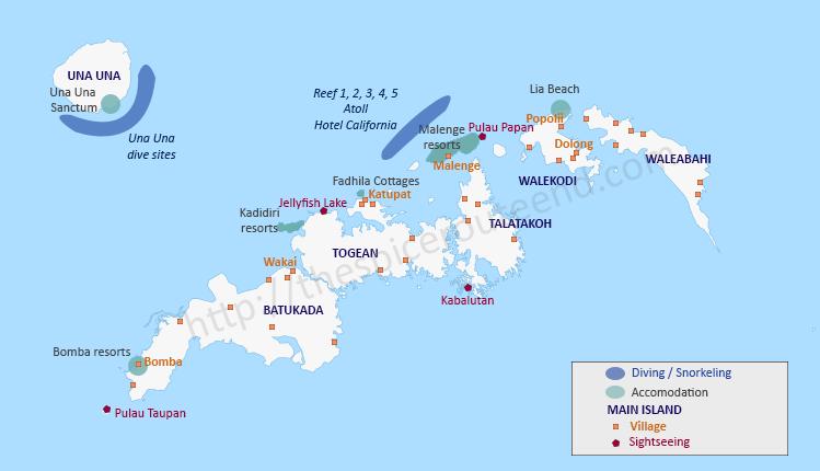 Tourist map Togean