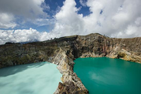 Kelimutu color lakes