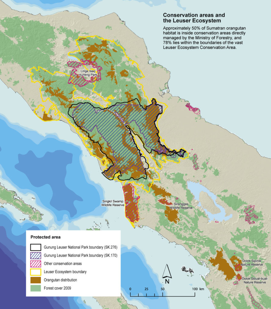 Conservation areas and the Leuser ecosystem