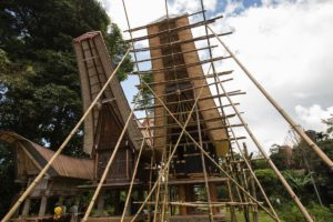 Toraja house construction