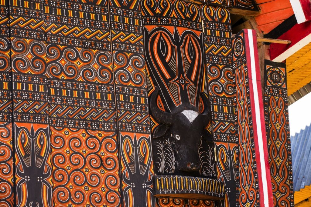 Toraja buffalo motif