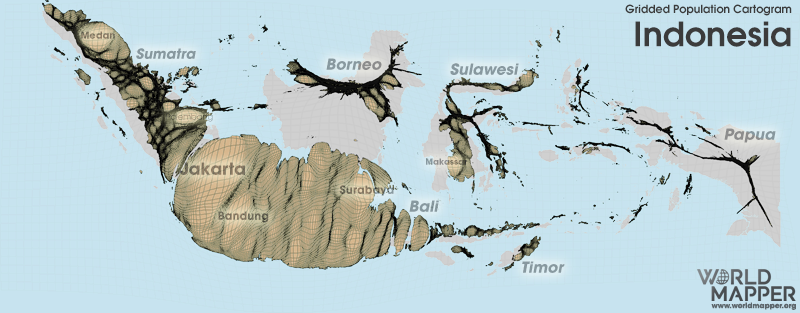 Anamorphisis Map Indonesia