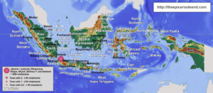 Indonesia provinces and main towns