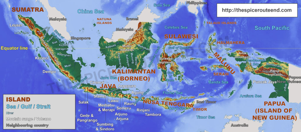 Indonesia Geographic Landmarks map