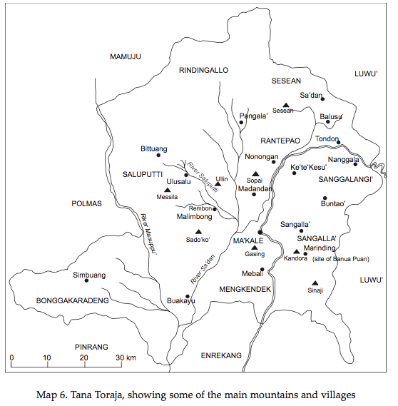Map Tana Toraja