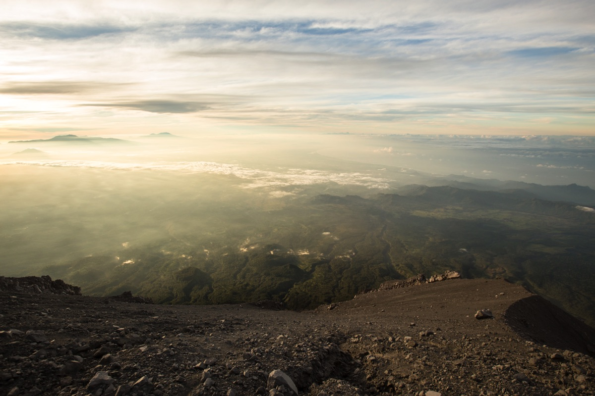 Semeru sunrise view