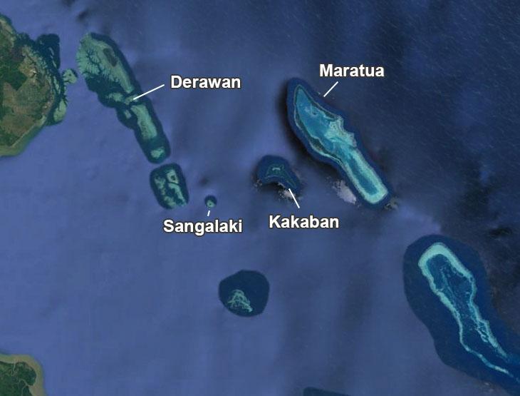 Map Derawan