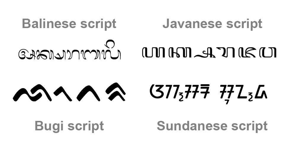 Ancient Indonesian Scripts